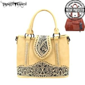 TN Trinity Ranch Tooled Leather Collection Crossbo